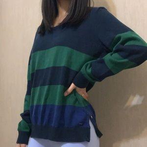 Tommy Hilfiger 100% Pima Cotton Striped Sweater